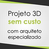 Selo para ressaltar o projeto 3D sem custo oferecido pela Sanvel Móveis